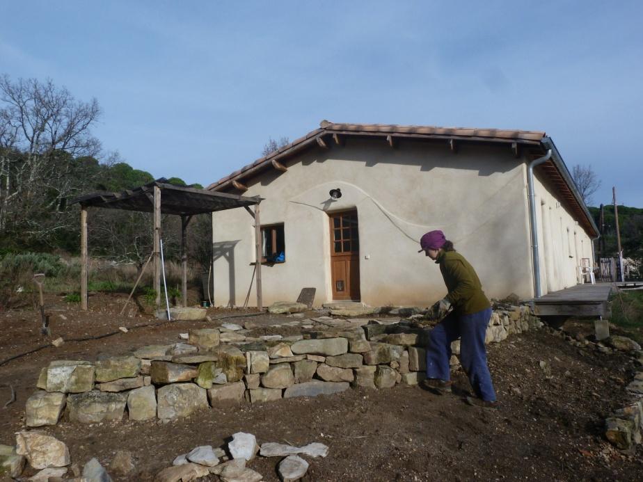Terrasse végétale and dry stone wall, Cevennes