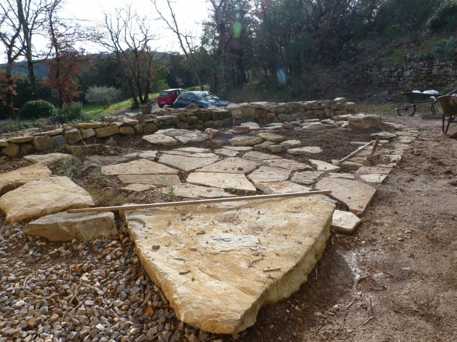 The 'terrasse' in progress