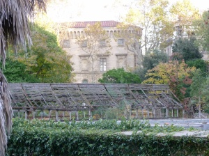 Dilapidated greenhouse, Jardin des Plantes de Montpellier, garden est. 1593, glasshouses from 1859