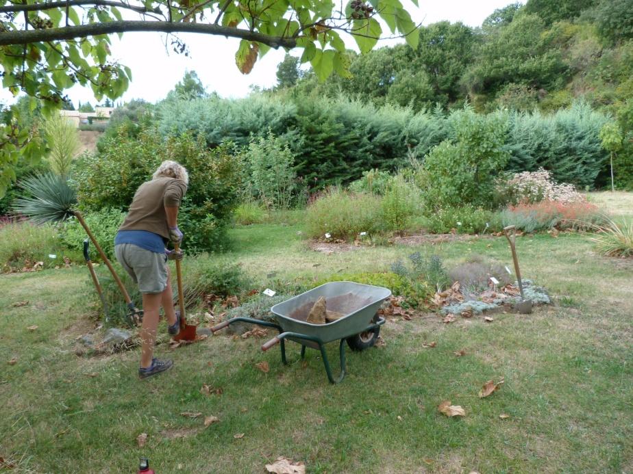 Imogen digging la Petite Pep