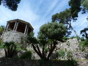 At the bottom of the garden this building houses an old olive press from the original garden